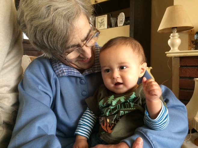 Baby with great aunt