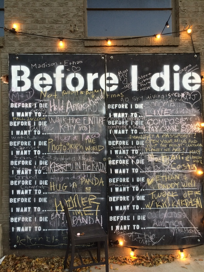 Before I die list