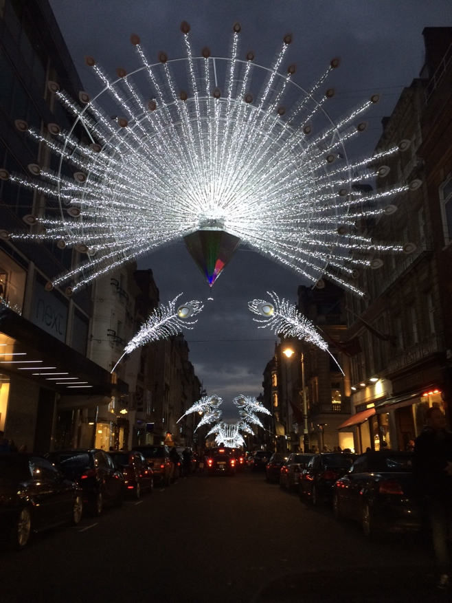 Christmas decorations on bond street
