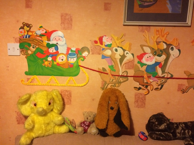 Christmas decorations in baby room