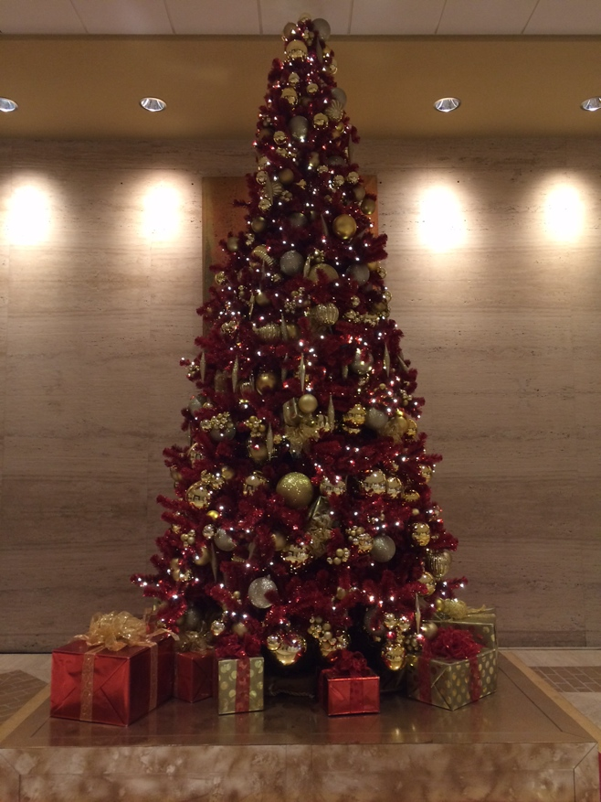 Christmas tree at the Hilton Anatole