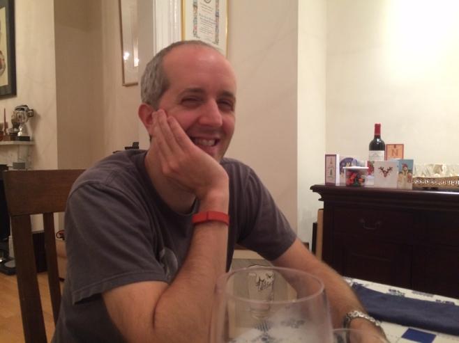 Man at dining table