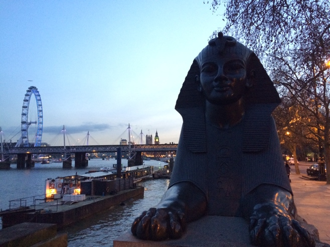 London eye and sphinx
