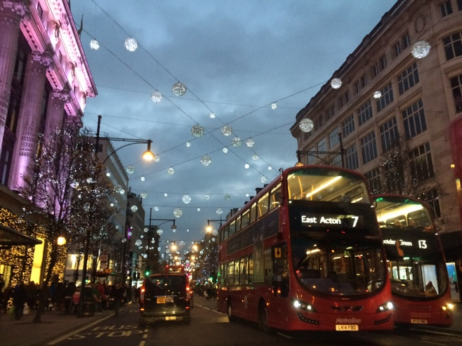 Double decker busses on Oxford street