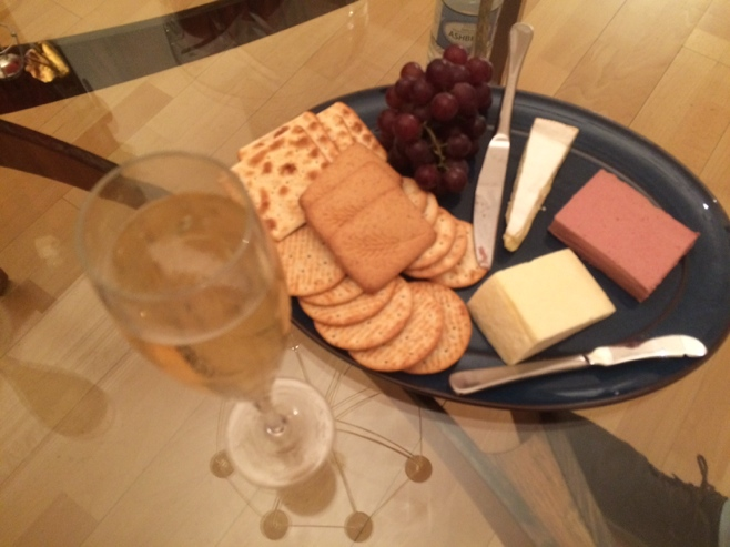 Pate cheese and champagne