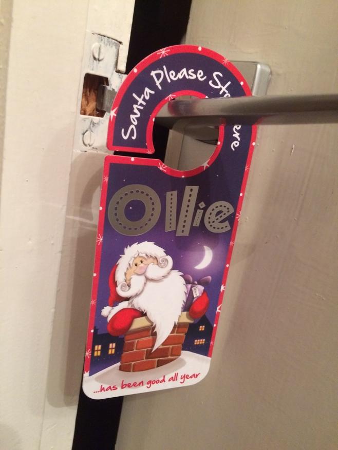 Santa door tag