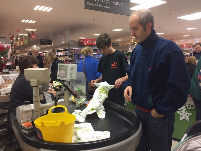 Waitrose checkout