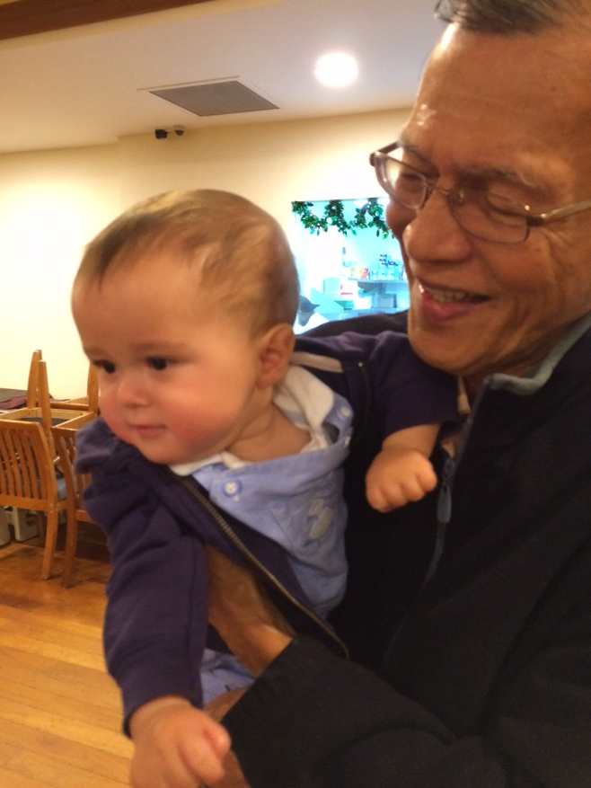 Baby with great uncle