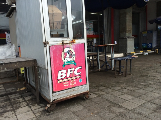 Bali fried chicken stand