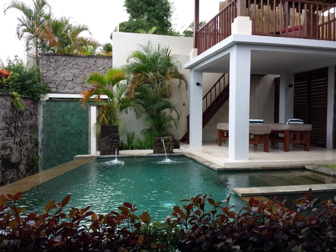 Swimming pool in villa
