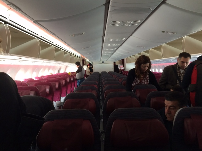 Cabin of plane