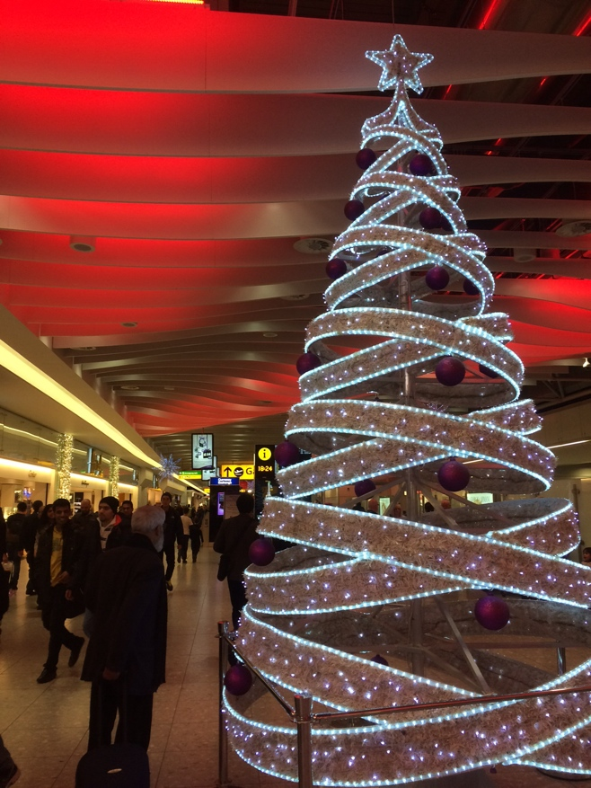 Christmas tree at LHR