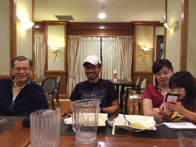 Dinner with family in Singapore