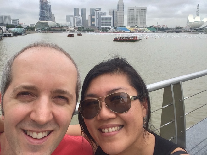 Man and woman in Singapore