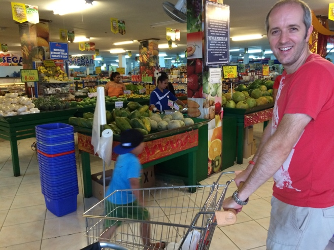 Man in supermarket in Bali