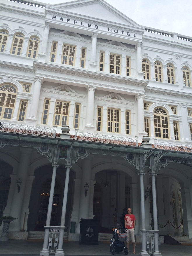 Entrance to the raffles hotel