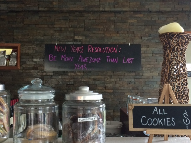 Cookie jars and New Years resolution