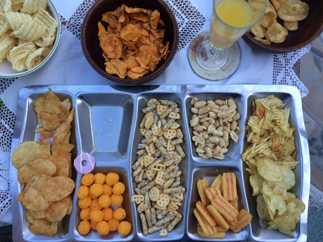 Platter full of snacks