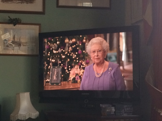 The queen on tv