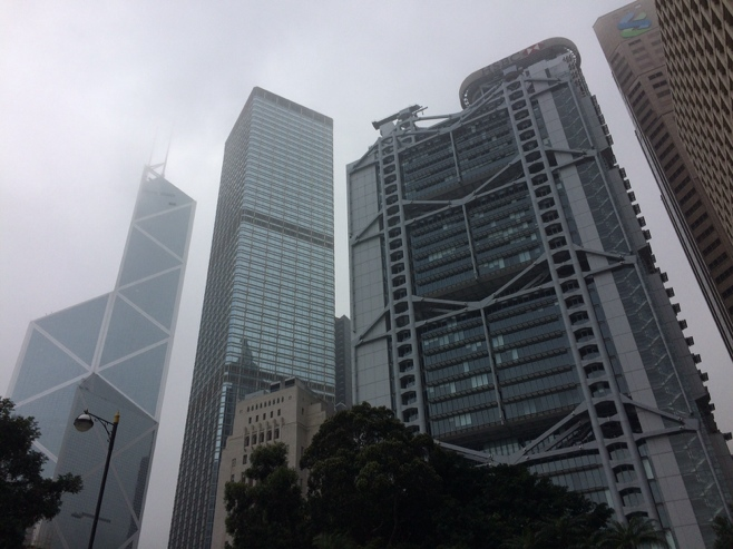 Buildings in central HK