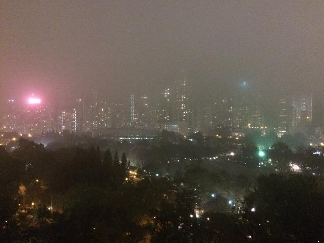 Hong Kong causeway bay view by night