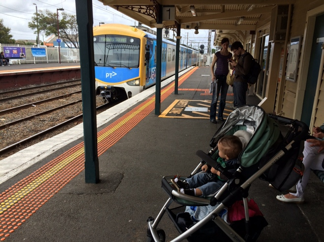 Baby at mordialloc train station