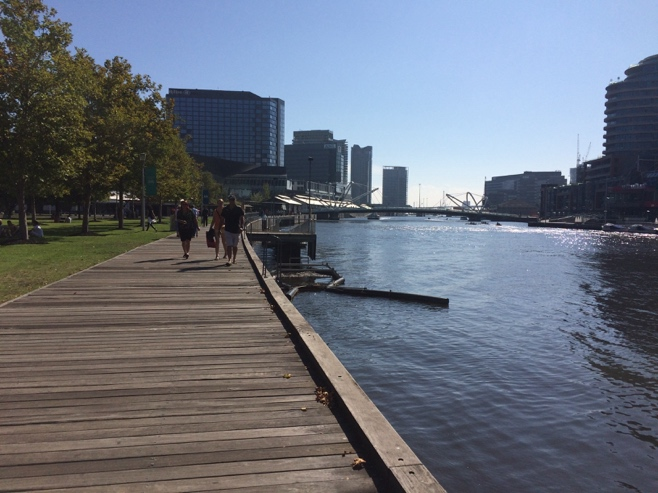 Path along the docklands
