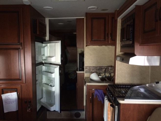 Inside of class c motor home
