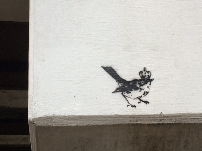 Little bird graffiti