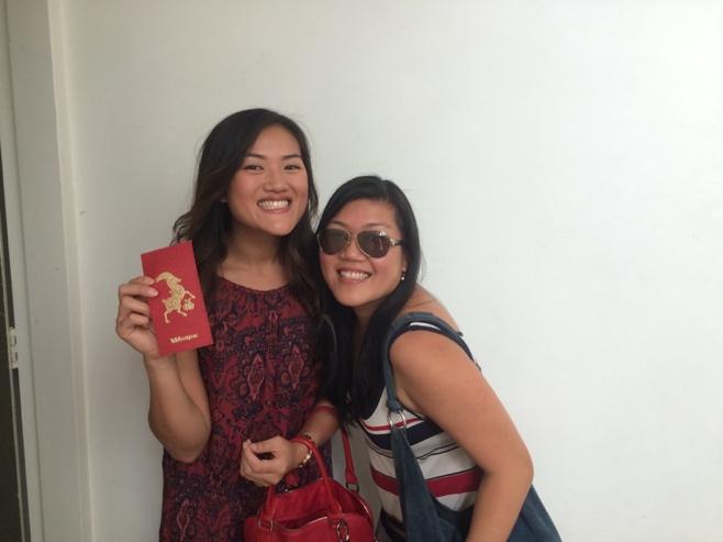 Sisters with ang pow