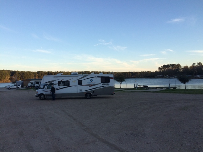 RV at lake Conroe