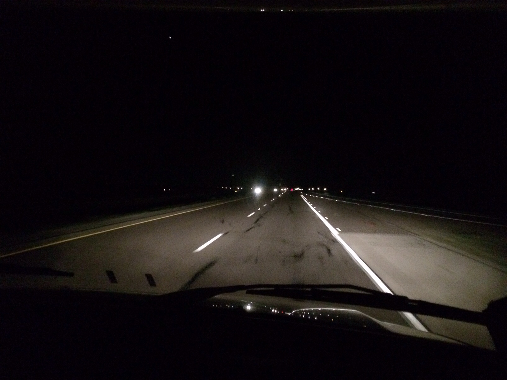 Driving to fort Stockton at night