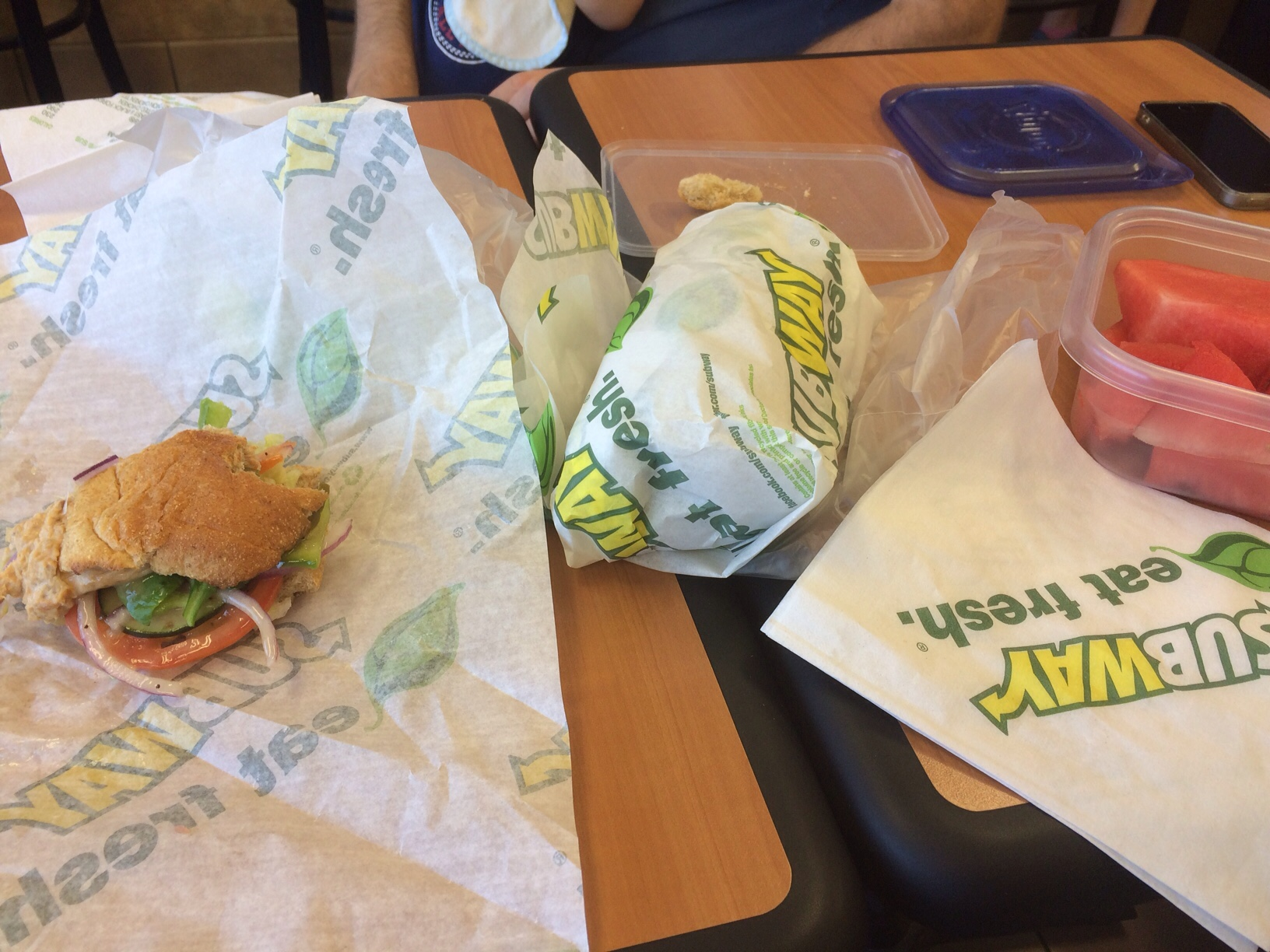 Subway lunch