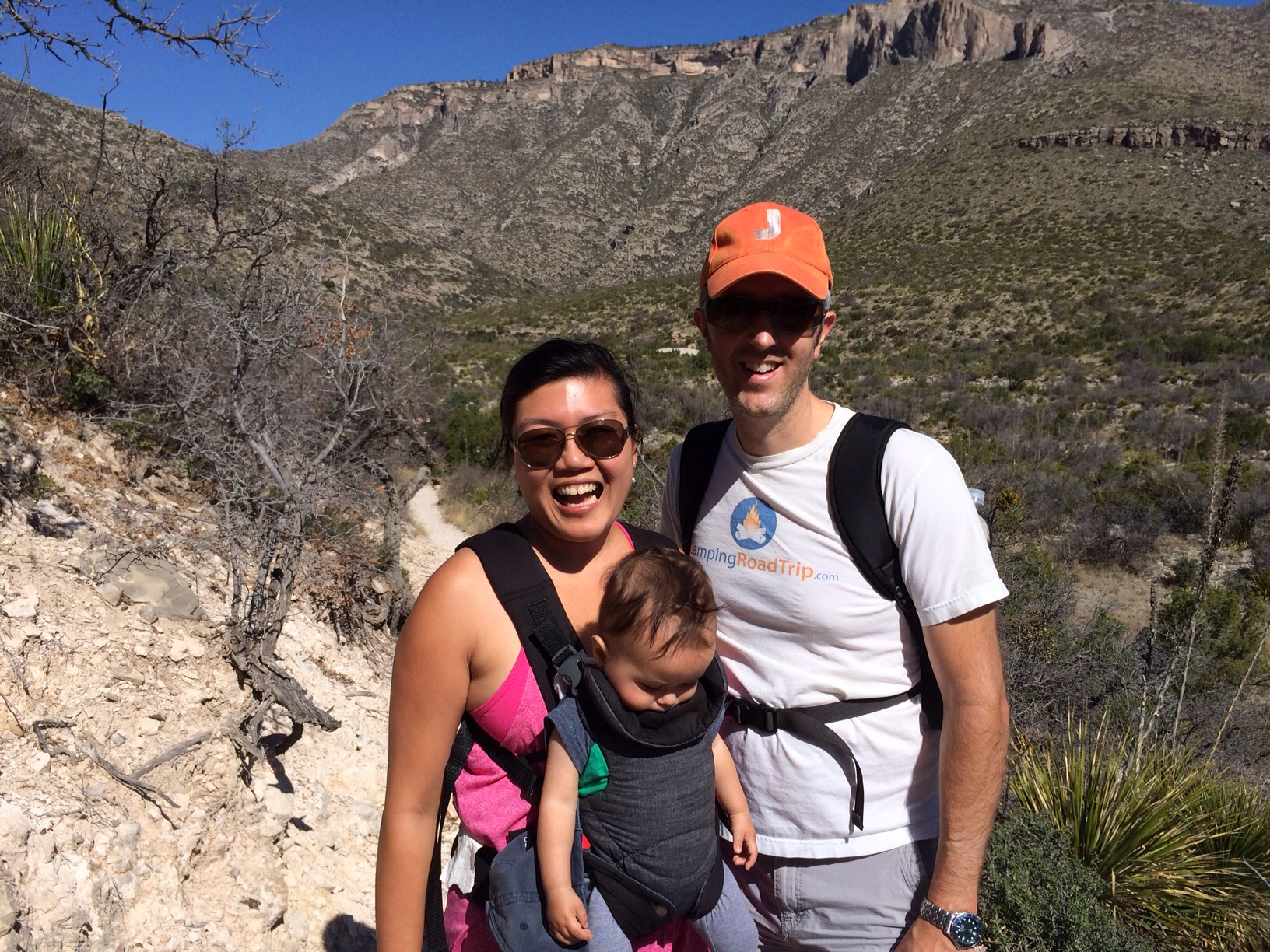 Family photo in McKittrick canyon