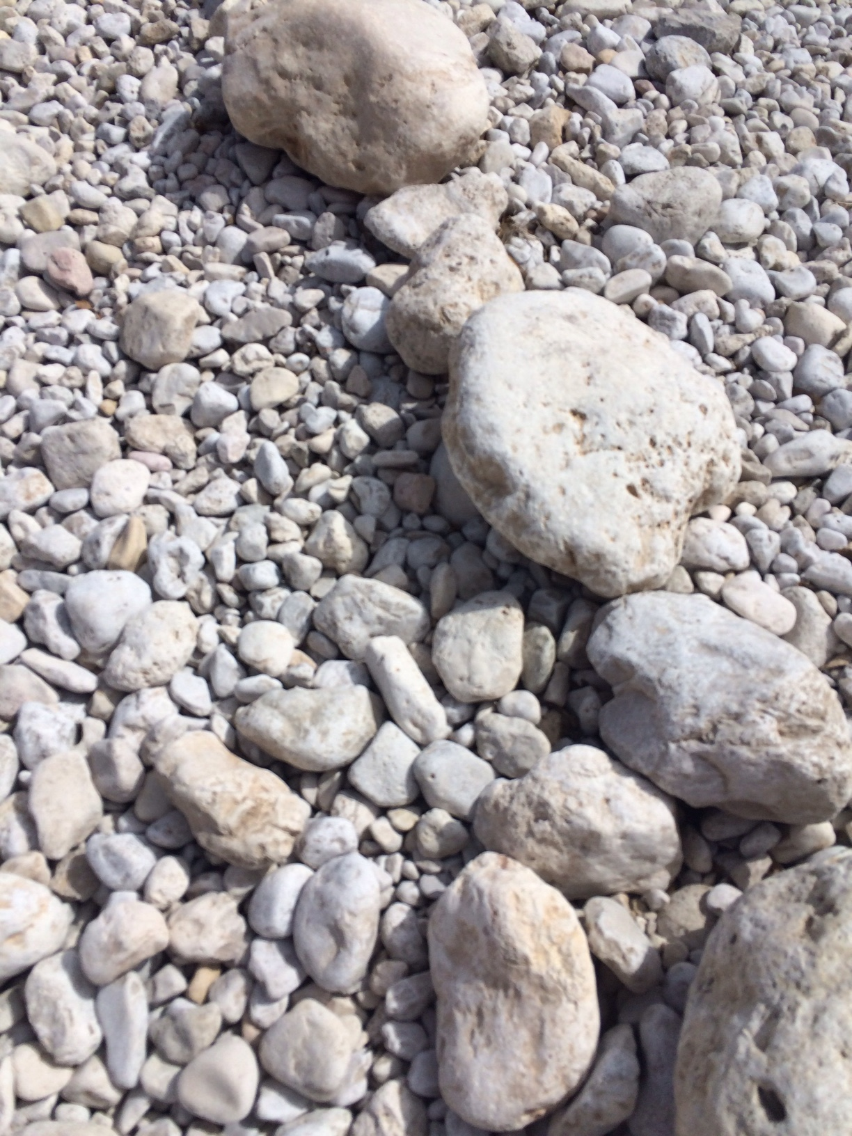 Stones on a river bed