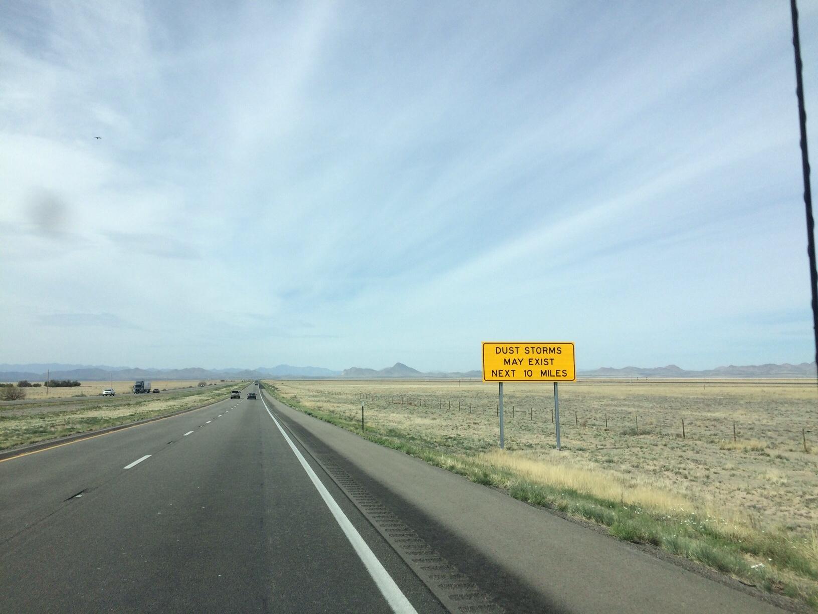 Dust storm sign