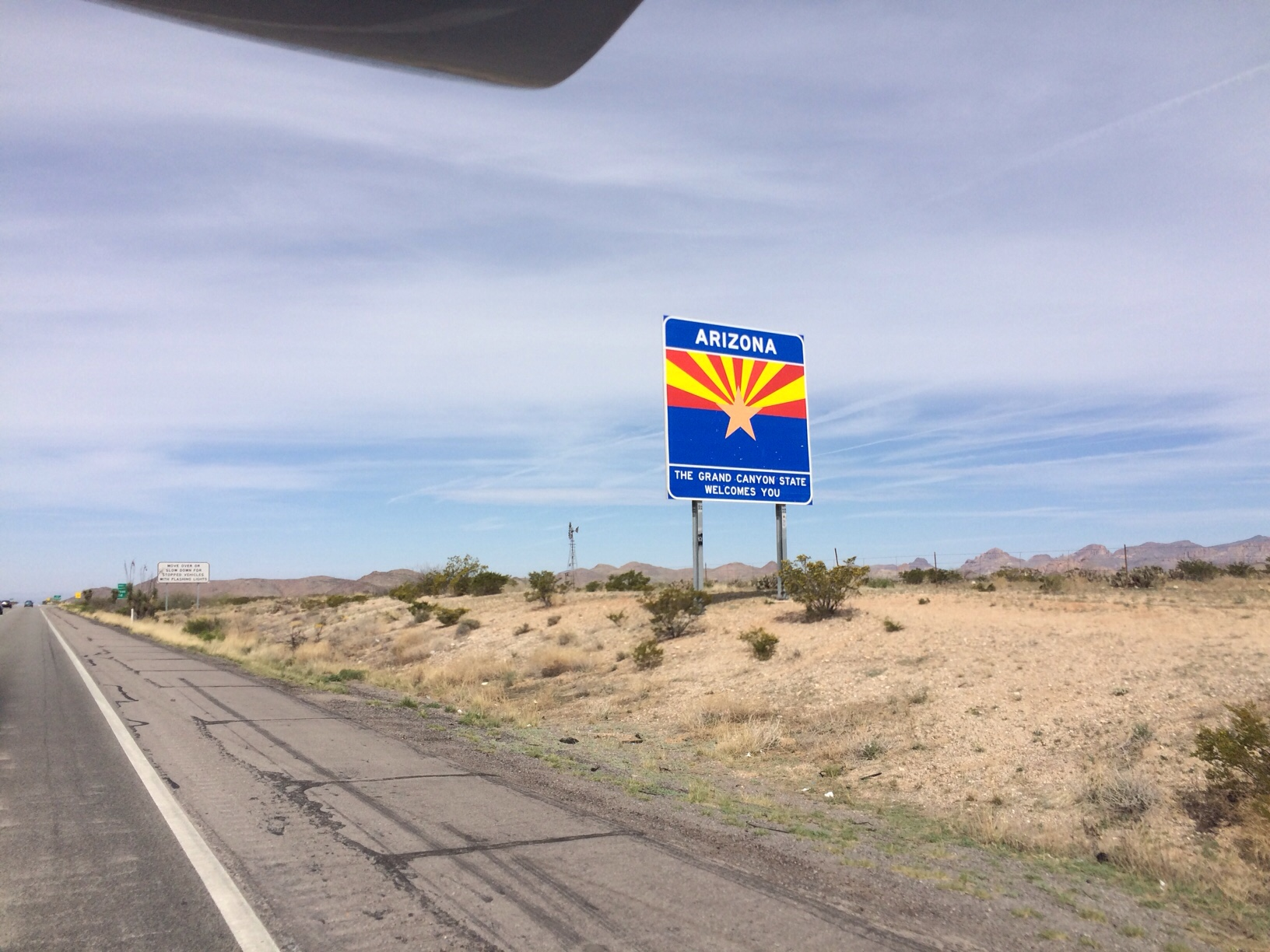 Road sign for Arizona