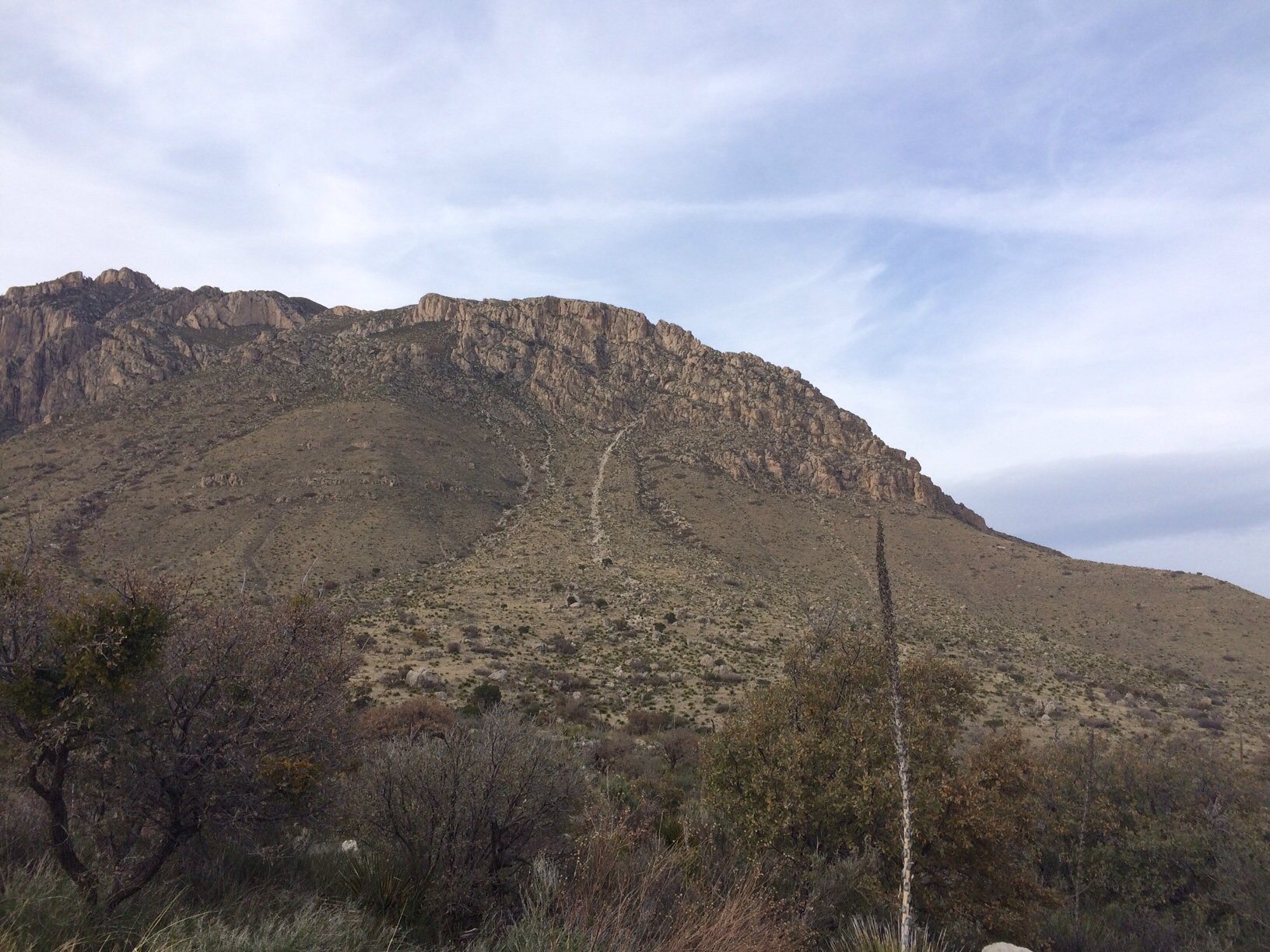 Guadalupe mountain evening view