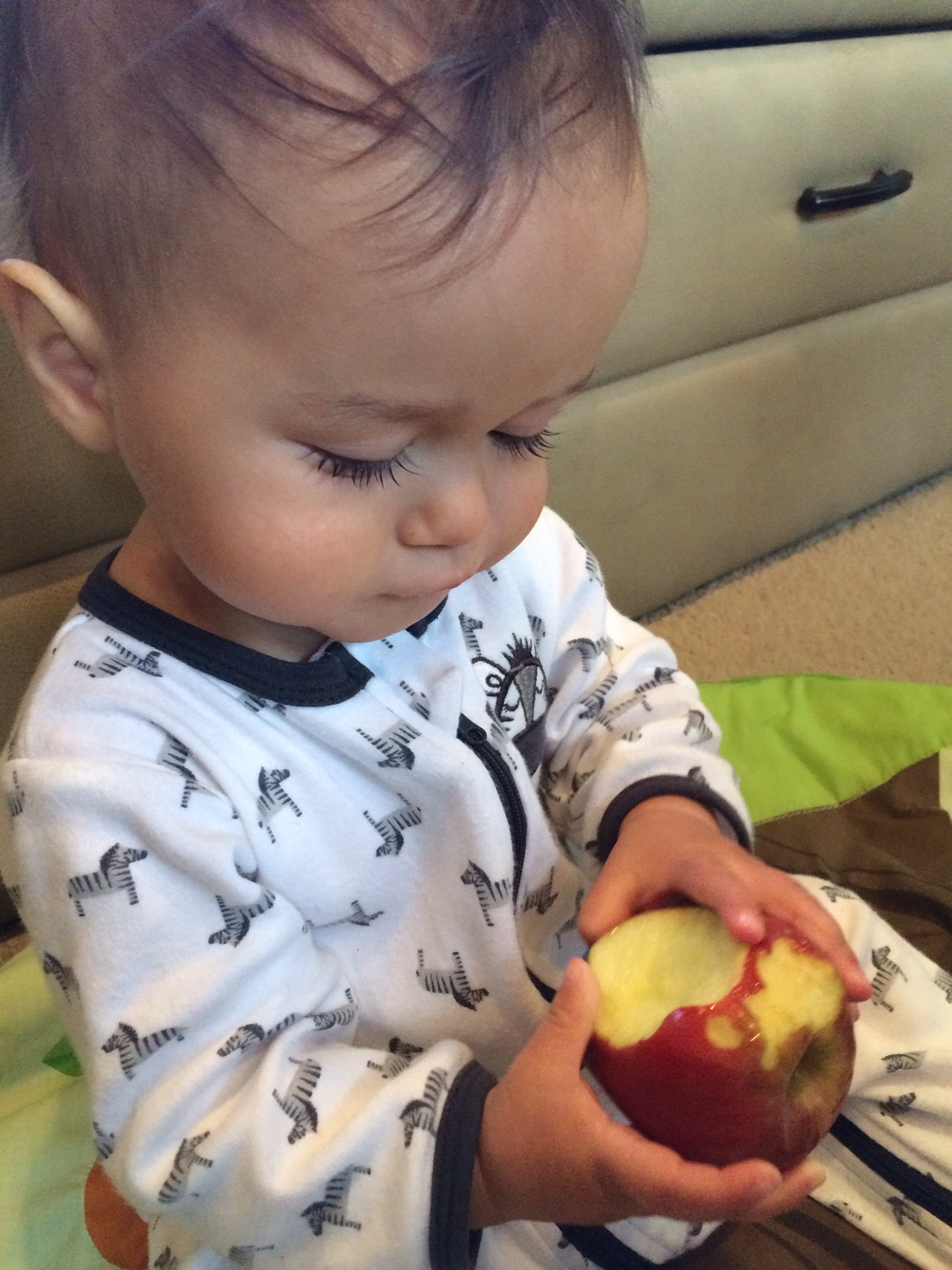 Baby boy o with Apple