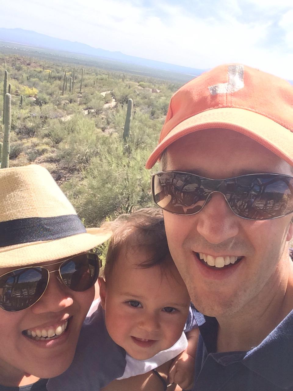 Desert family selfie