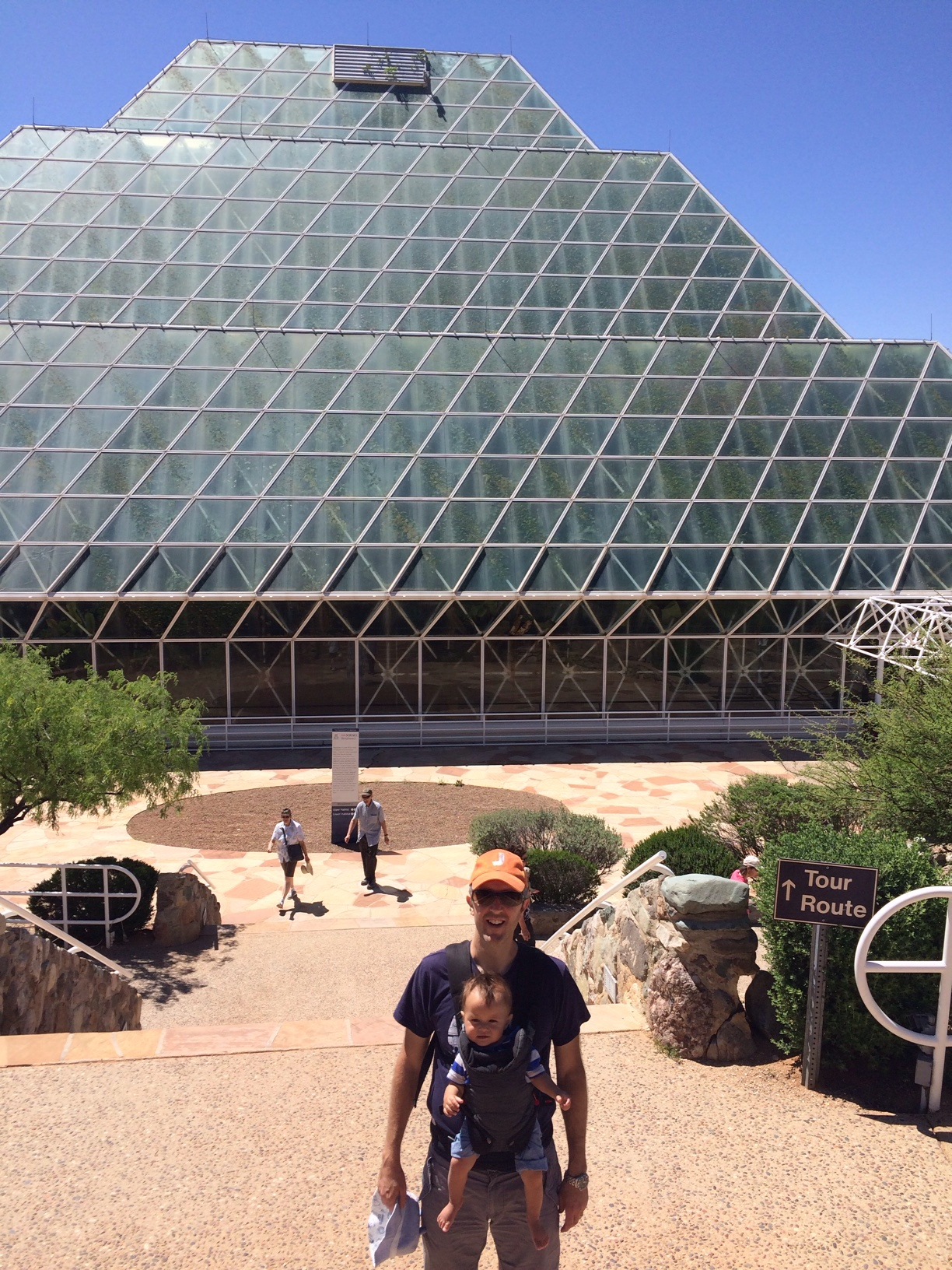 English hubby and baby boy o on biosphere 2 tour