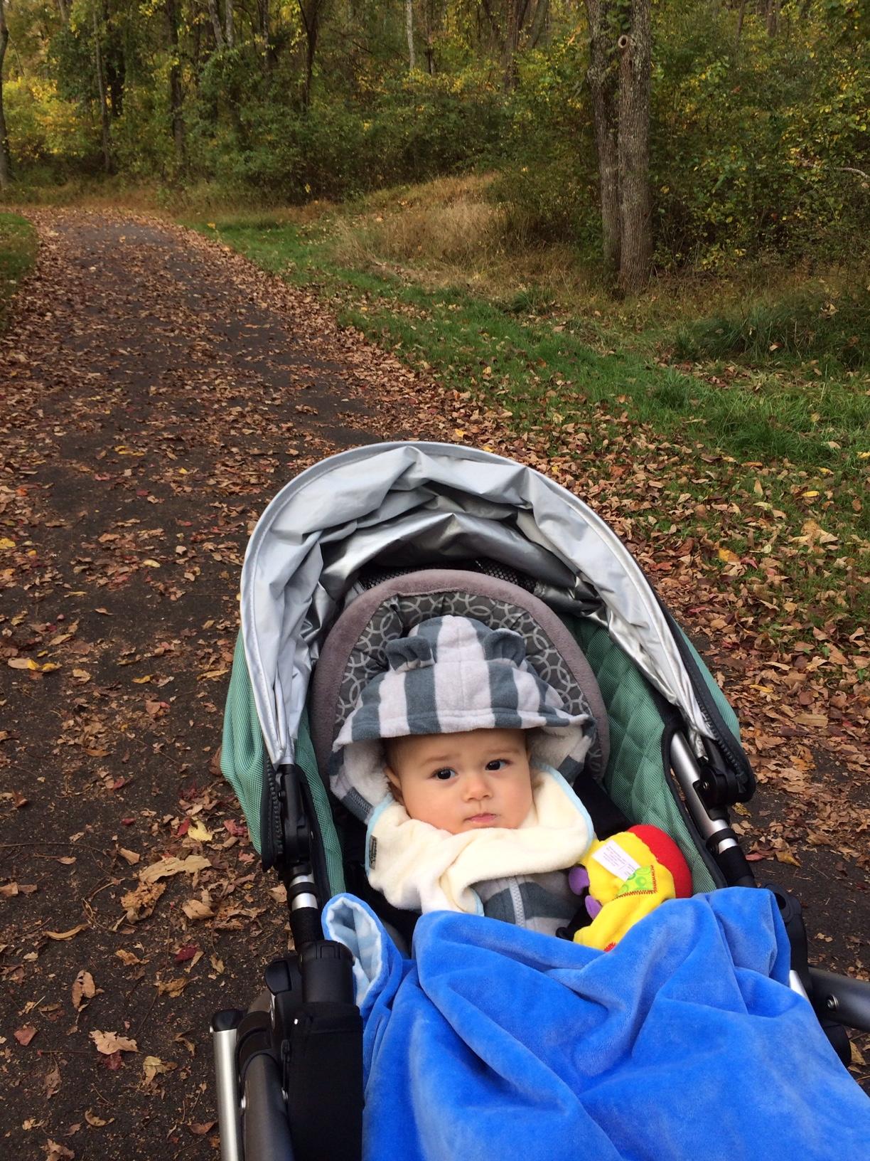 Baby boy o in stroller