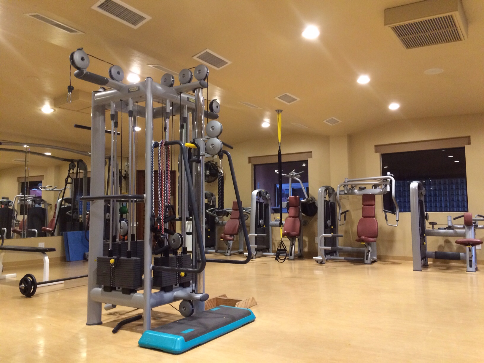 Gym workout at monte vista resort
