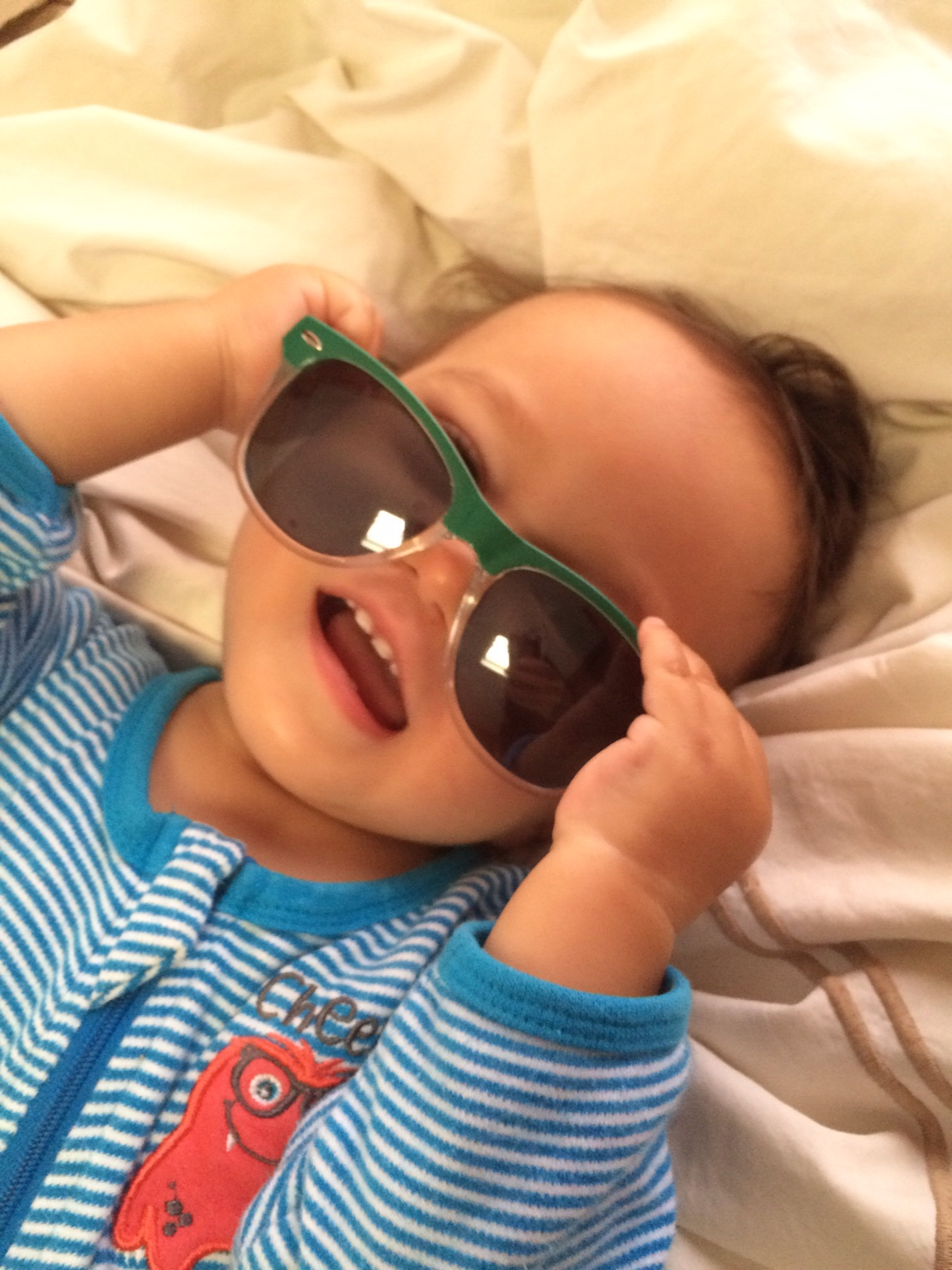 Baby boy o with sunglasses