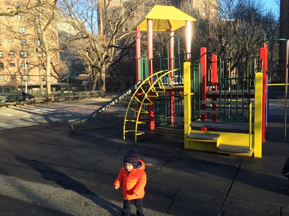 Baby at playground